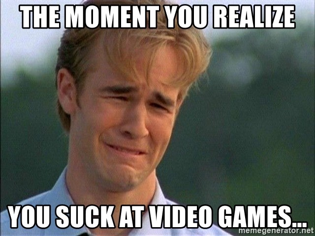 Crying Man - the moment you realize you suck at video games...