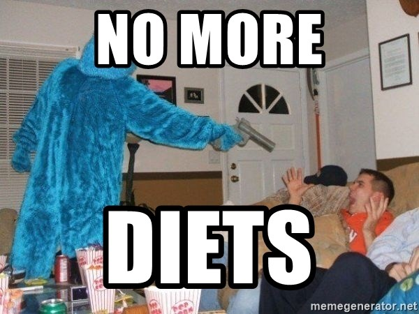 Bad Ass Cookie Monster - No more Diets