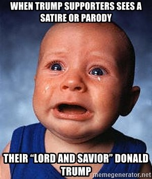 When Trump Supporters Sees A Satire Or Parody Their Lord And