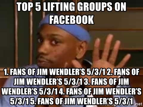 Top 5 lifting groups on facebook 1  Fans of Jim Wendler's 5/3/1 2