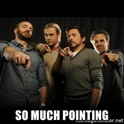 avengers pointing - so much pointing