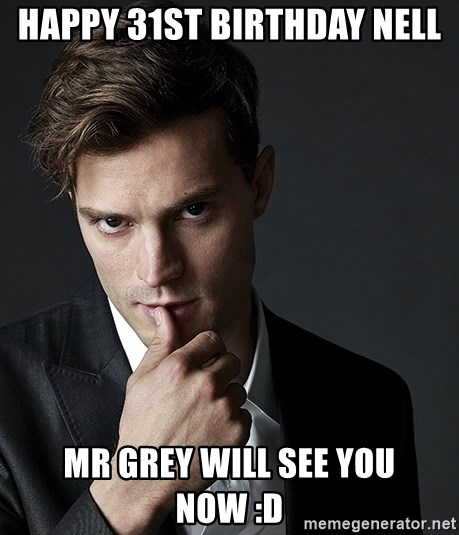 Christian Grey Jamie Dornan - Happy 31st birthday Nell Mr Grey will see you now :D