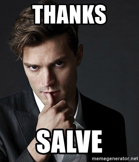 Christian Grey Jamie Dornan - thanks  Salve