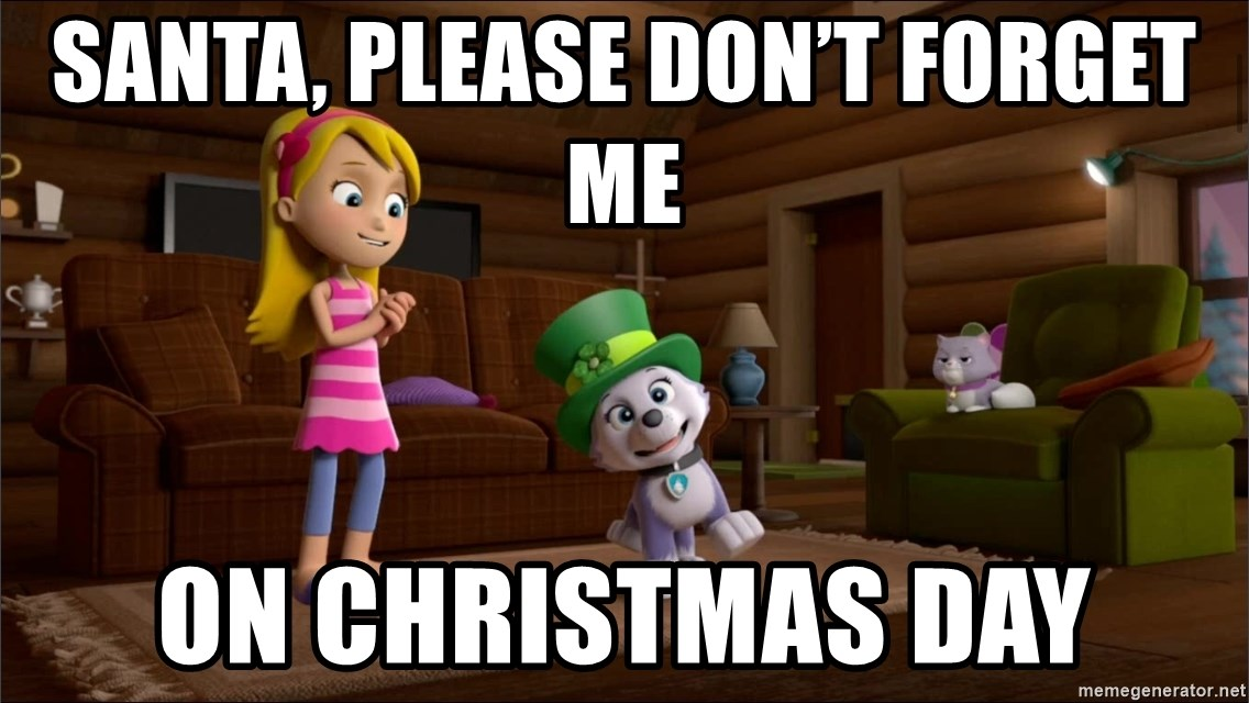 Santa Please Dont Forget Me On Christmas Day Everest Is Singing