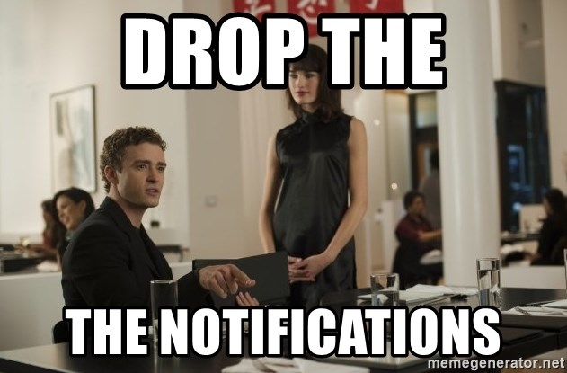 sean parker - DROP THE The Notifications