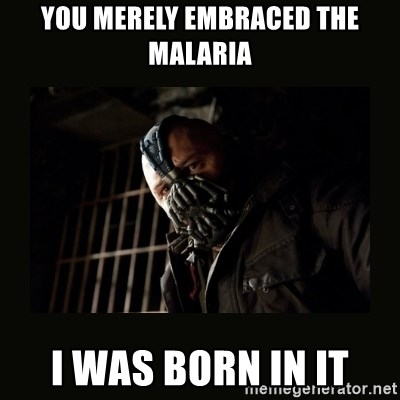 Bane Dark Knight - You merely embraced the malaria i was born in it
