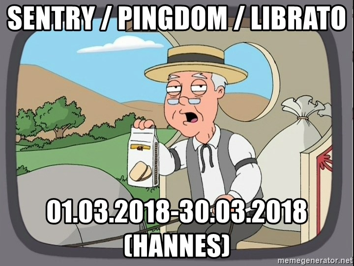 Pepperidge Farm Remembers Meme - Sentry / Pingdom / Librato 01.03.2018-30.03.2018 (Hannes)