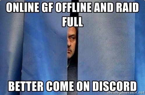 online gf offline and raid full better come on discord