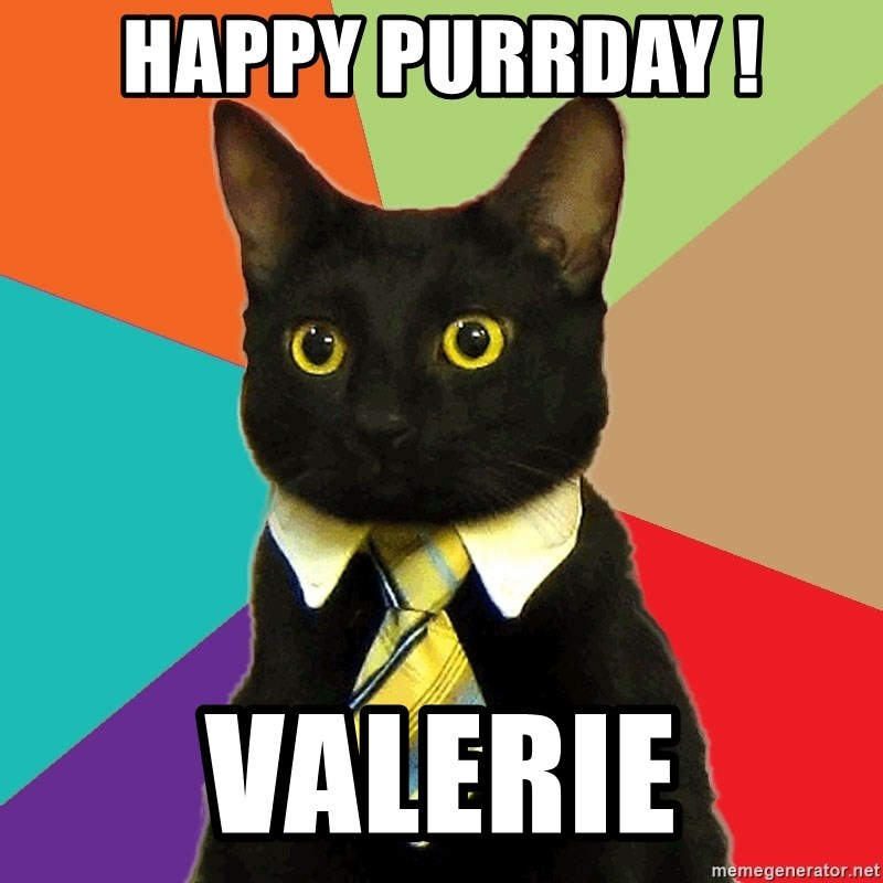 Business Cat - HAPPY PURRDAY ! VALERIE