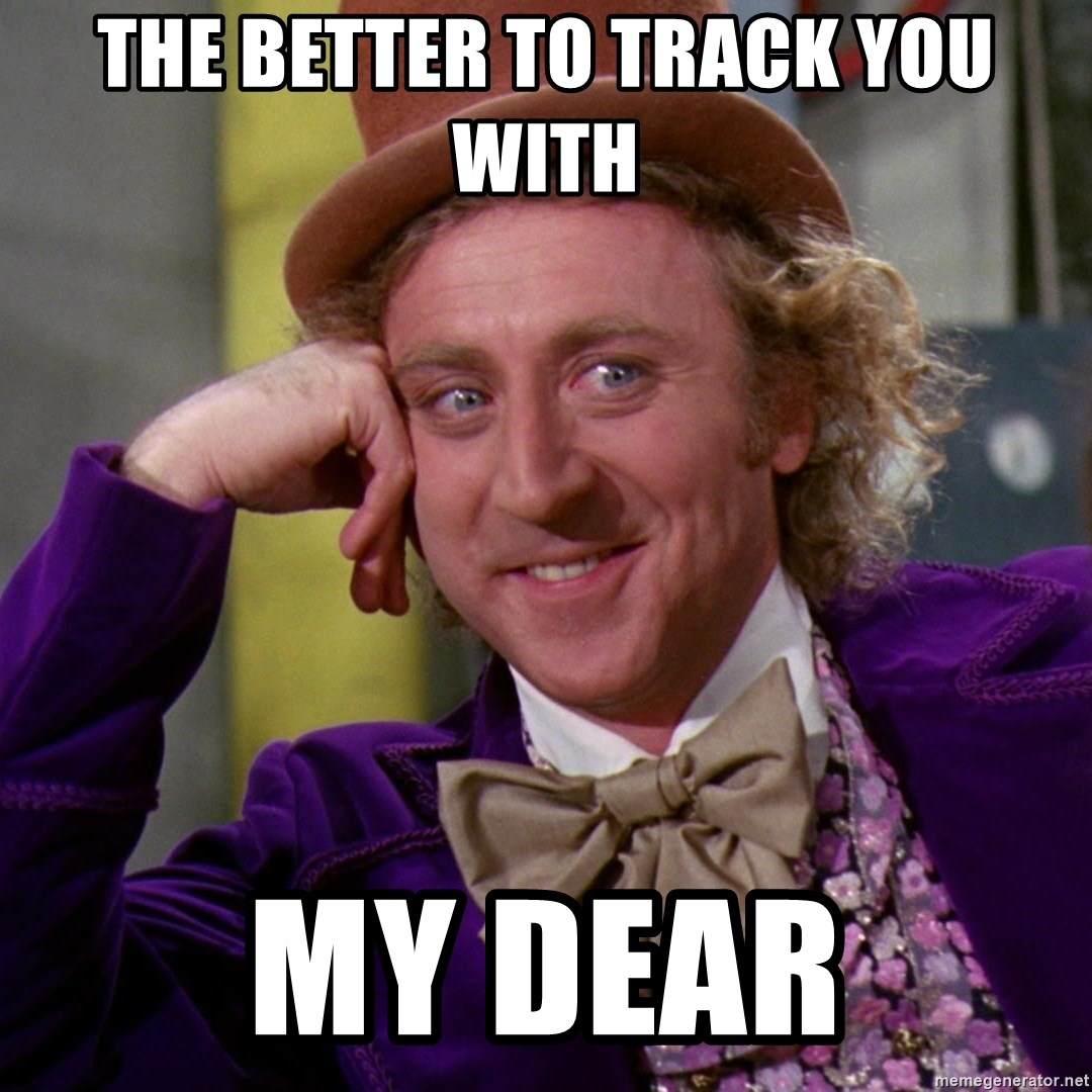 Willy Wonka - THe better to track you with My dear