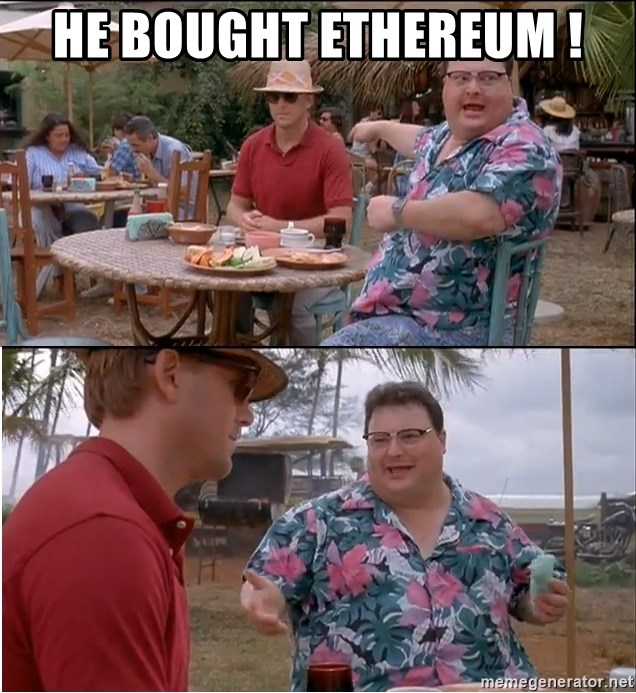 See? Nobody Cares - HE BOUGHT ETHEREUM !