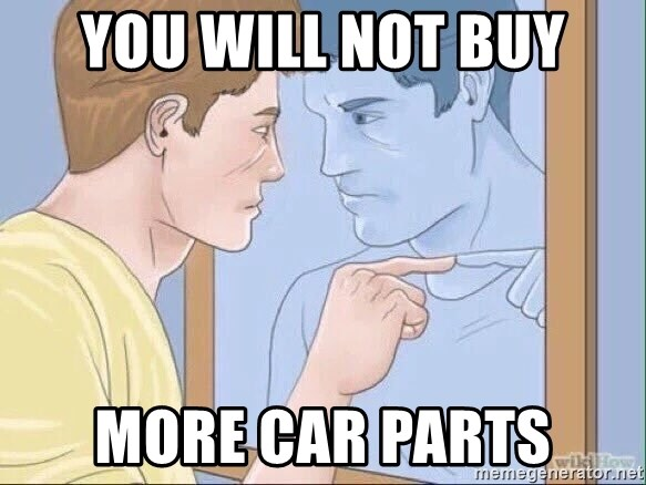 You Will Not Buy More Car Parts Pointing Mirror Guy Meme Generator