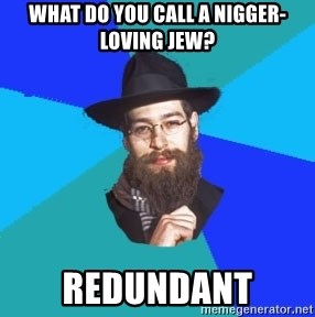Jewish Dude - what do you call a nigger-loving jew? redundant