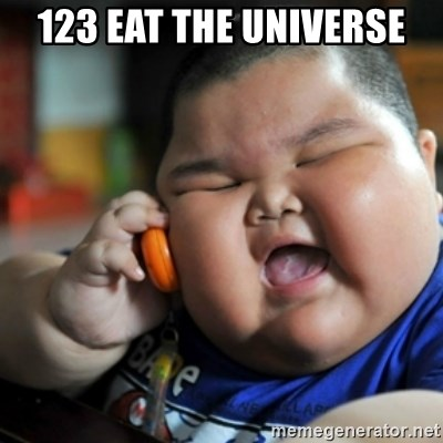 fat chinese kid - 123 eat the universe