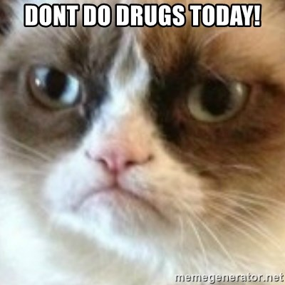 angry cat asshole - Dont do drugs today!