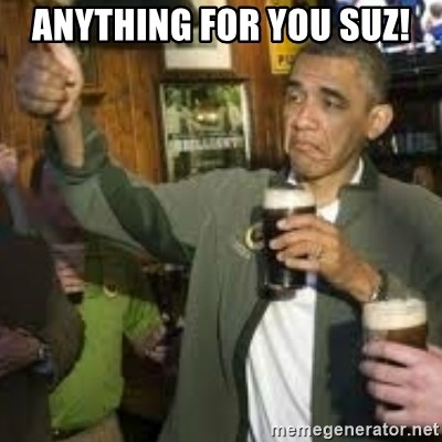 obama beer - Anything for you Suz!