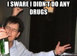 Drunk Charlie Sheen - I sware i didn't do any drugs