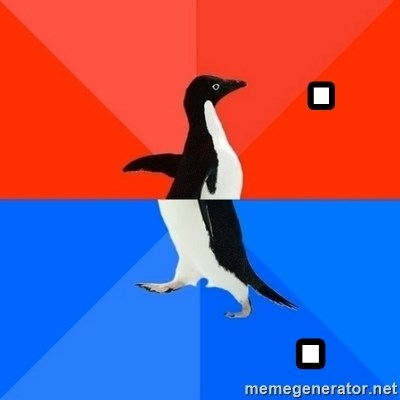 Socially Awesome Awkward Penguin - .            .