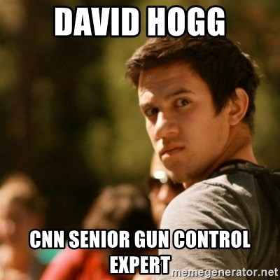Disturbed David - David Hogg CNN Senior Gun Control Expert