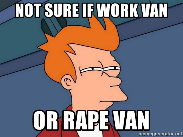 Futurama Fry - Not sure if work van or rape van