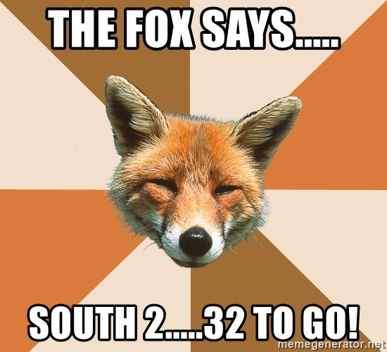 Condescending Fox - THE FOX SAYS..... SOUTH 2.....32 TO GO!