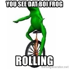 Dat boi frog - you see dat boi frog rolling