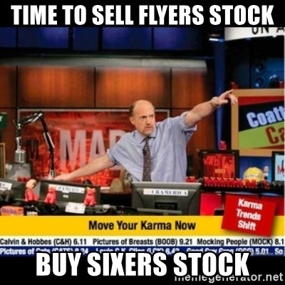 Mad Karma With Jim Cramer - Time to sell Flyers stock Buy Sixers stock