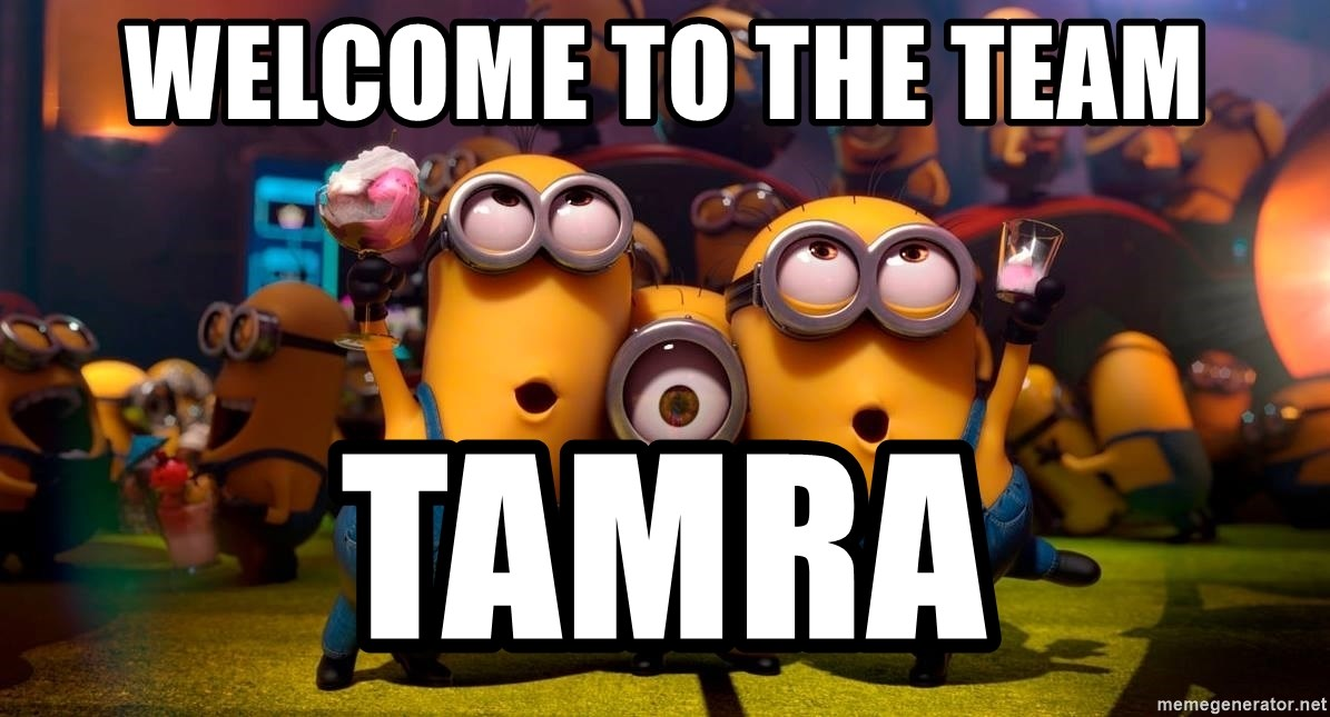 Welcome To The Team Tamra Happy Birthday From Minions Meme Generator