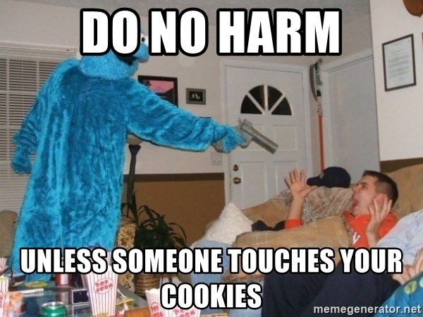 Bad Ass Cookie Monster - Do no harm unless someone touches your cookies