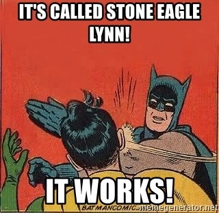 batman slap robin - It's called Stone Eagle Lynn! It works!