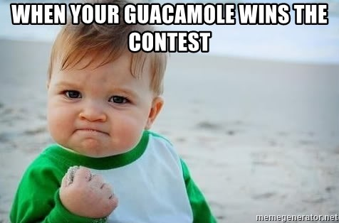 fist pump baby - When your guacamole wins the contest
