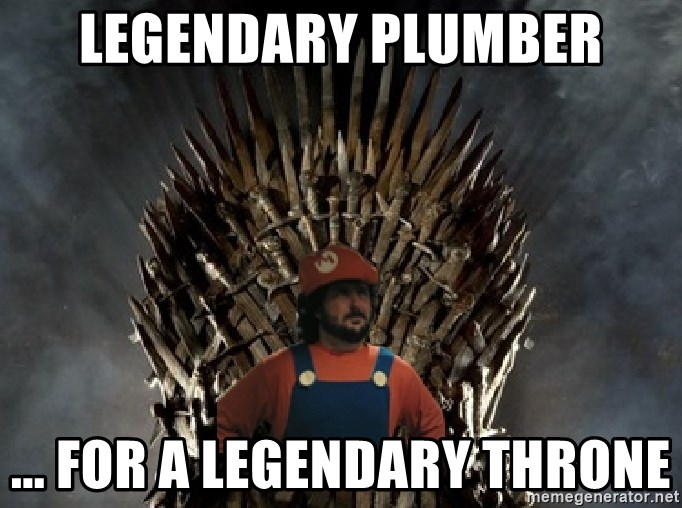 Lou Trono - legendary plumber ... for a legendary throne