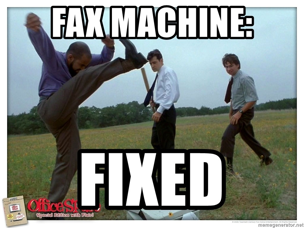 Image result for fax machine meme