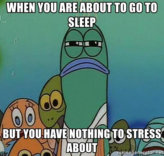 suspicious spongebob lifegaurd - When you are about to go to sleep But you have nothing to stress about