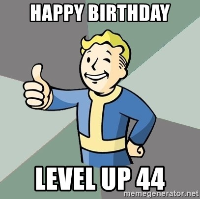 Fallout Boy - Happy birthday Level up 44