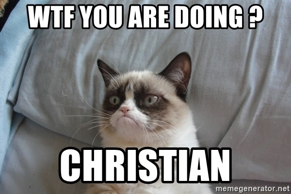 Grumpy cat good - WTF you are doing ? Christian