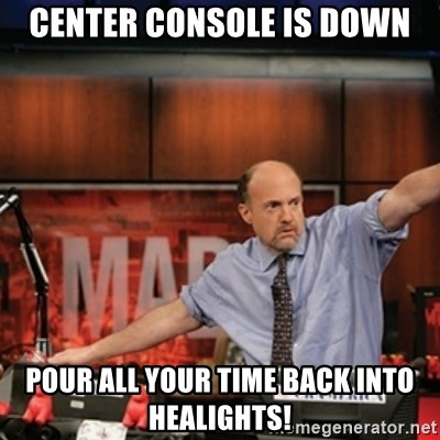Jim Kramer Mad Money Karma - Center Console is down pour all your time back into healights!
