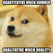 dogeee - quantitative much number qualitative much quality