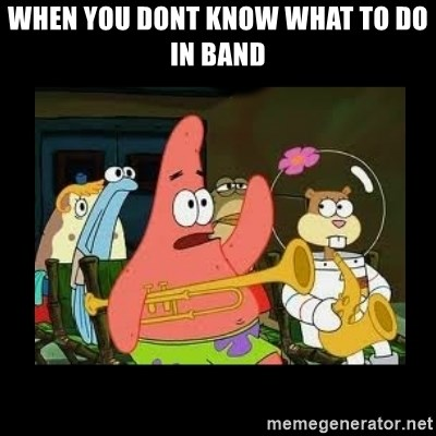 Patrick Star Instrument - when you dont know what to do in band