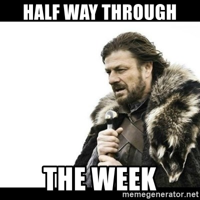 Winter is Coming - half way through  the week