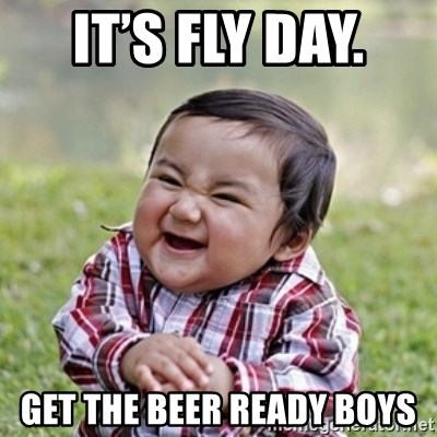 evil toddler kid2 - It's fly day.  Get the beer ready boys