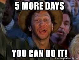 You Can Do It Guy - 5 more days you can do it!