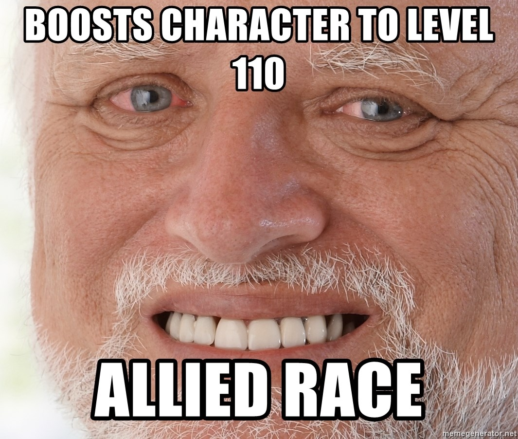Boosts Character to Level 110 Allied Race - Hide the Pain Harold