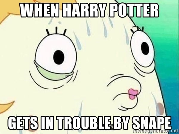 ohhhhhneuptuone - when harry potter gets in trouble by snape