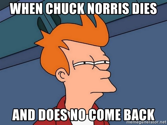 Futurama Fry - When Chuck Norris dies And does no come back