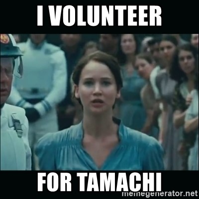 I volunteer as tribute Katniss - I volunteer for tamachi