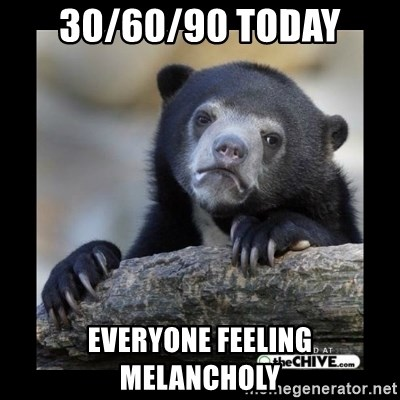 sad bear - 30/60/90 Today Everyone Feeling Melancholy
