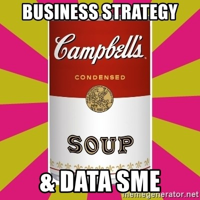College Campbells Soup Can - Business Strategy & Data SME