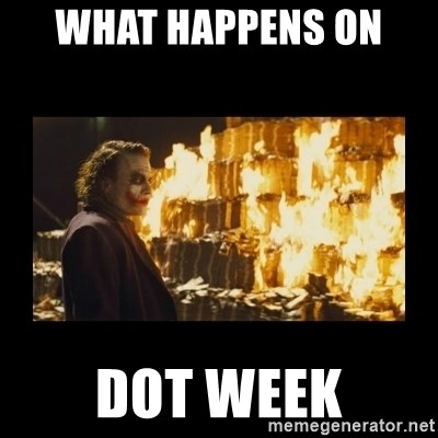 Joker's Message - What happens on  DOT Week