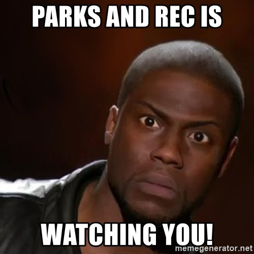kevin hart nigga - Parks and rec is watching you!